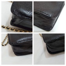 Auth Chanel Timeless Black Caviar Leather Gold Chain Wallet WOC Crossbody Bag image 7