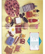 RARE~Crochet Toy Food Pattern~Annie's Attic 1988~OOP - $48.99