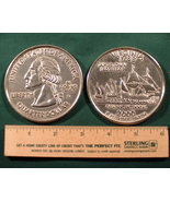 "Big 3"" Inch Metal Coin Replica of a 2000 Virginia State Quarter - €6,09 EUR"