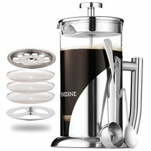 French Press Coffee Maker - Stainless Steel, with 34 Ounce Borosilicate ... - $28.27