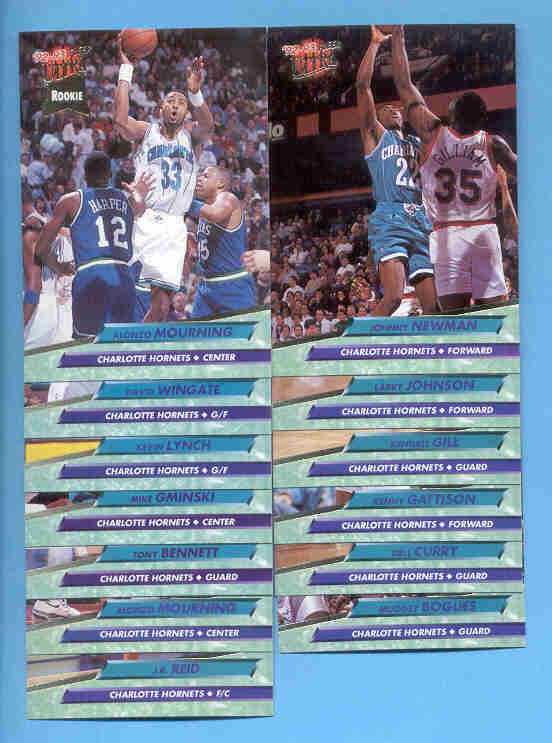 1992/93 Fleer Ultra Charlotte Hornets Basketball Team Set