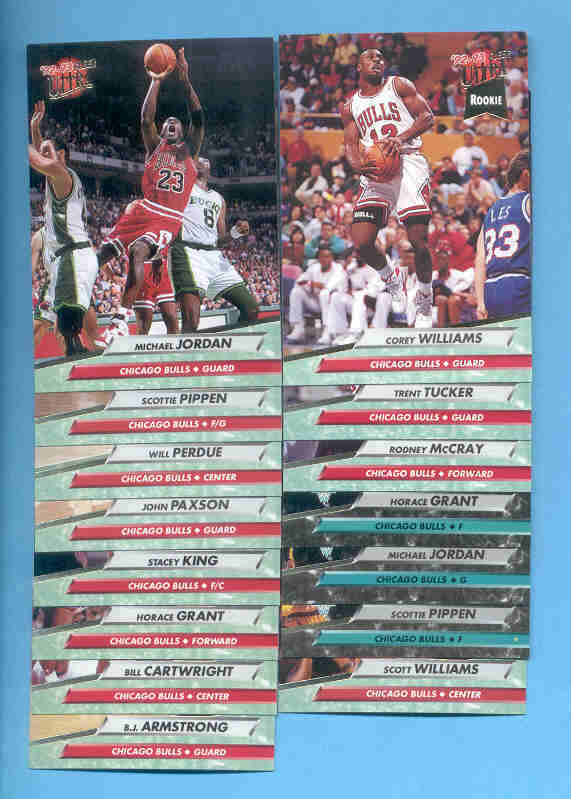 1992/93 Fleer Ultra Chicago Bulls Basketball Team Set