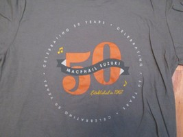 Macphail Suzuki Celebrating 50 years  T Shirt Size M - $14.99