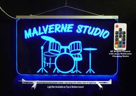 Personalized LED Sign, Drum Set, Man Cave Sign, Band Sign Pub Sign Handmade - $142.00