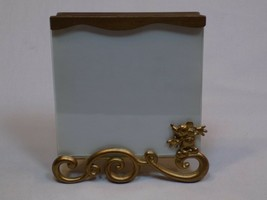 "Mickey Mouse Charpente Disney Gold Metal Frame Photo Picture Holder 5.25"" x 5.5"" - $24.99"