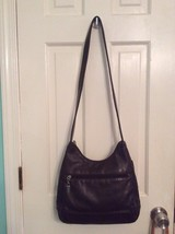 Women Liz Claiborne Brown Leather Hobo Shoulder Bag Purse - $21.99