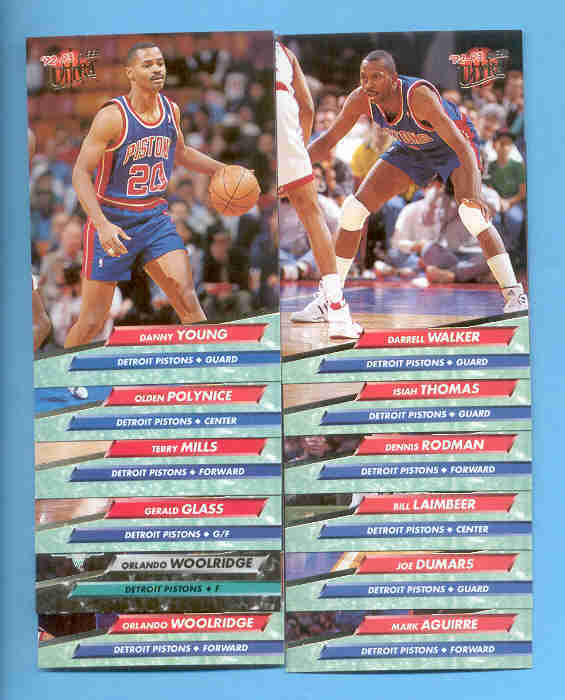 1992/93 Fleer Ultra Detroit Pistons Basketball Team Set