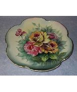 Japan Roses Floral Painted Decorative Plate - $9.95