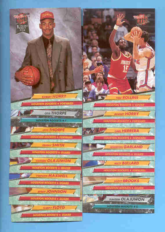 1992/93 Fleer Ultra Houston Rockets Basketball Team Set