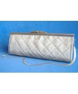 Dalila Purse Quilted Silver Wire Mesh Handmade Shoulder Evening Bag Clut... - $290.00