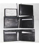 Genuine Leather Men's Bi-Fold Wallet- #533 BLACK - $18.00