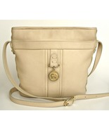 Vintage Aigner cream colored leather shoulder purse. Pockets, zipper clo... - $12.95