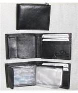 Genuine Leather Men's Bi-Fold Wallet- #576 BLACK - $17.00
