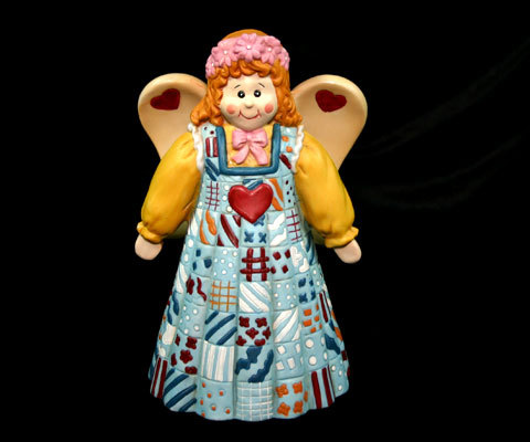 Cute and Colorful Ceramic Angel