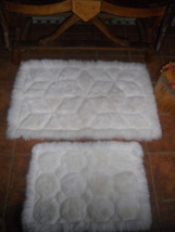 SET of 2  White Alpaca rug , luxurious rug, Pre... - $220.00