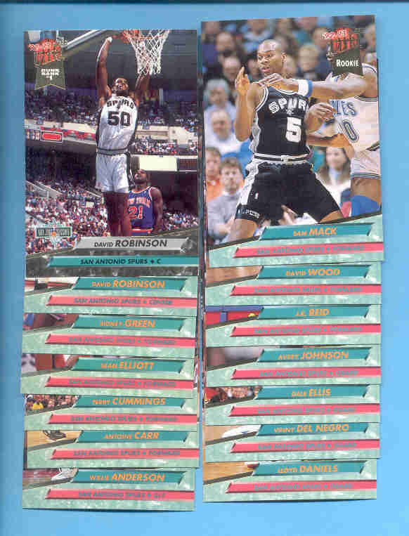 1992/93 Fleer Ultra San Antonio Spurs Basketball Team Set