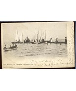 Boating at Lakeside Marinette WIS 1906  3.218 - $6.00