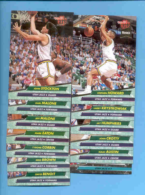 1992/93 Fleer Ultra Utah Jazz Basketball Team Set