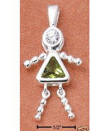 Sterling & CZ Birthstone Kids GIRL Charm AUGUST - $25.00