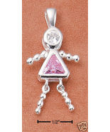 Sterling & CZ Birthstone Kids GIRL Charm OCTOBER - $25.00