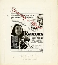 Loretta Young RAMONA Original AD ART 8x10 B&W Photo  - $9.99