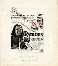 Loretta Young Ramona Original Ad Art 8x10 B&W Photo - $9.99