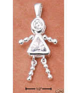 Sterling & CZ Birthstone Kids GIRL Charm APRIL - $25.00