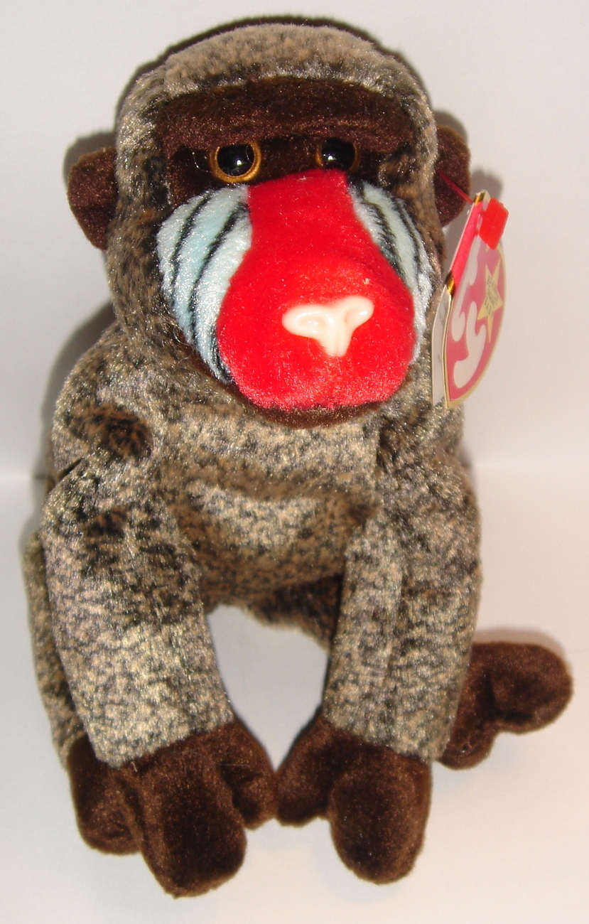 Retired Ty Beanie Baby ~ Cheeks the Baboon ~ MWMT ~ May 18, 1999