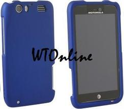 MOTOROLA MB886 ATRIX HD BLUE RUBBERIZED SNAP HARD CASE - $7.99