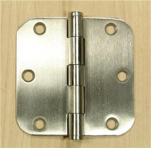 "Stainless Steel 3 1/2"" Door Hinges 5/8"" radius corners"
