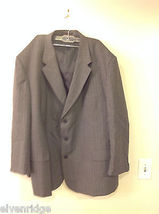 Adolfo Big and Tall 2-Piece Suit Set Intermediate Charcoal Gray with Pinstripes image 6