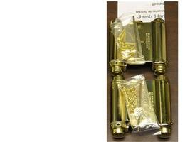 "2 EA. BRASS 3"" DOUBLE ACTION ACTING SPRING HINGES - $45.00"