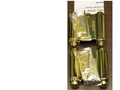 """2 EA. BRASS 3"""" DOUBLE ACTION ACTING SPRING HINGES"""