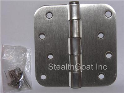 "4"" Satin nickel Door Hinge w/screws 5/8 radius US15"