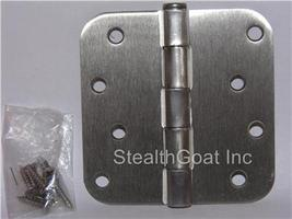 "4"" Satin nickel Door Hinge w/screws 5/8 radius US15 - $2.00"