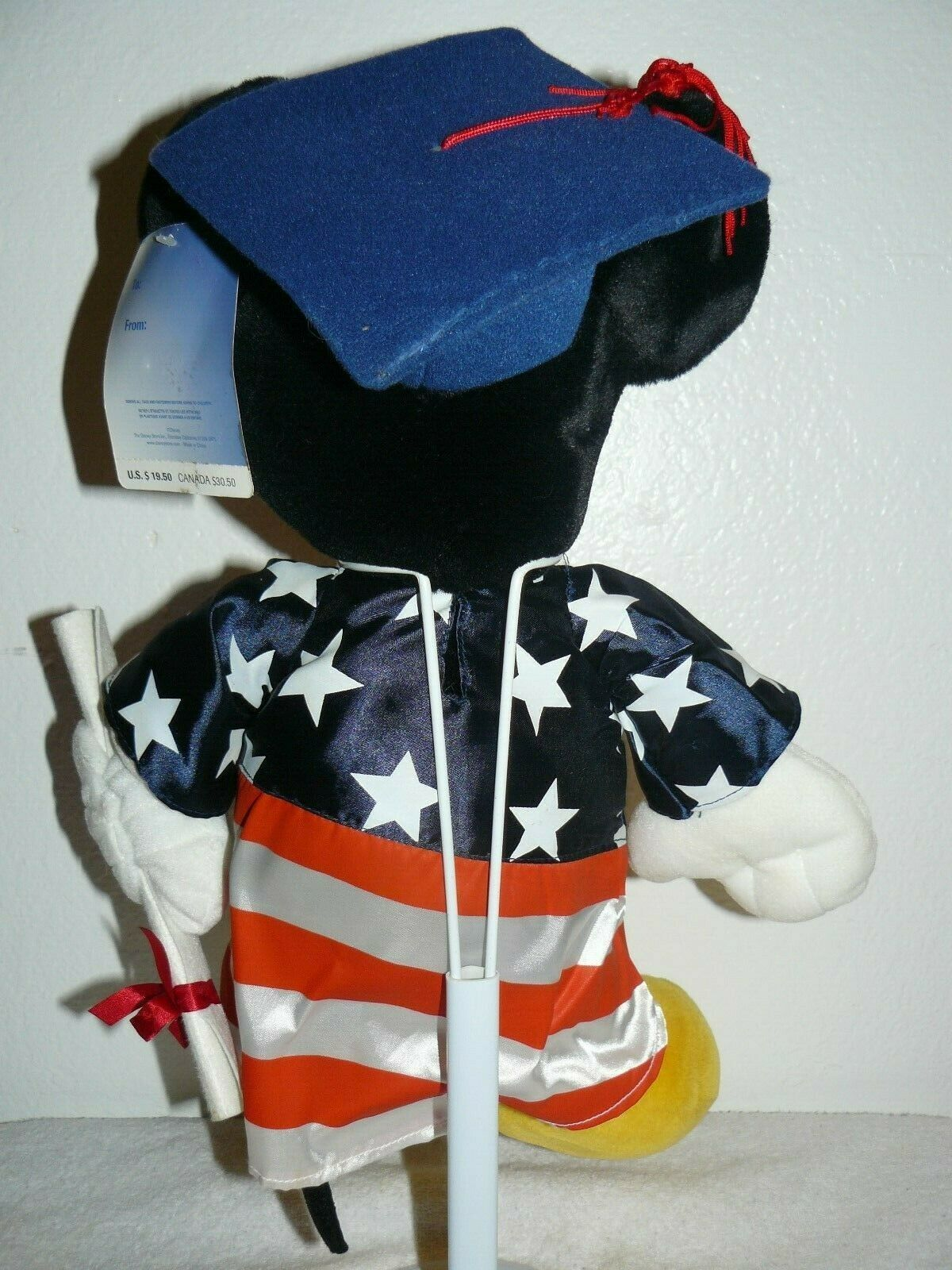 Disney World Graduation Mickey Mouse Plush 15""