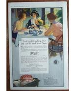 1919 Crisco Shortening Recipes & Color Vintage Ad - $6.95