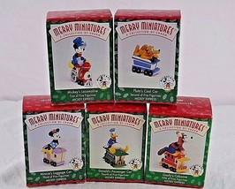 Hallmark Keepsake Ornament Set of 5 Mickey & Co. Merry Miniatures Mickey... - $29.99