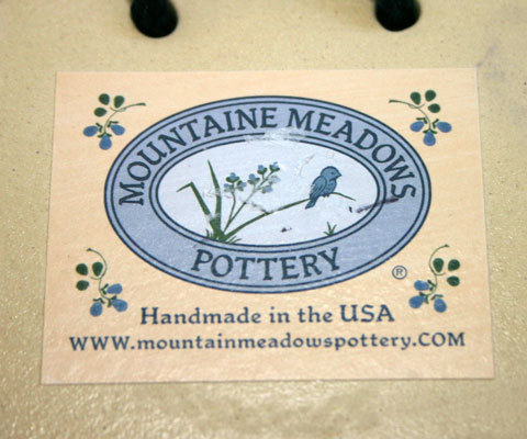 Ceramic Cat Plaque from Mountain Meadows Pottery