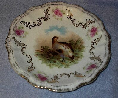 Old Bavaria Marked Quail Game Plate