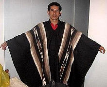 Primary image for Original typical peruvian Poncho, alpaca wool, outerwear