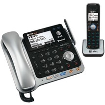AT&T TL86109 DECT 6.0 2-Line Connect to Cell Corded/Cordless Bluetooth Phone Sys - $171.24