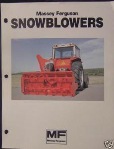 1983 Massey Ferguson 751, 763, 773, 784, 796, 808 Snowblowers Brochure
