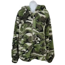 Love Love Love 2X Camo Fleece Womens Jacket Hooded - $24.63