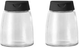 Double Lids Seasoning Shakers Glass Bottles Spice Jars Salt Pepper (Set ... - $7.50