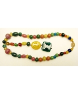 ANTIQUE PEKING GLASS NECKLACE - $95.00