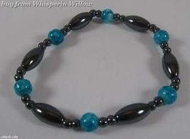 Turquoise and Magnetic Hematite Bracelet - $7.95