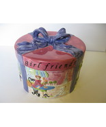 "Certified International Jennifer Brinley 5 1/4""  Hat Box Cookie Jar  - $49.99"
