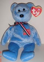 Retired Ty Beanie Baby ~ America (Blue) Bear~ MWMT - $9.00