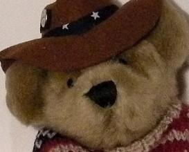 1/2 Price! Cody Brass Button Bear USA Sweater Hat NWT